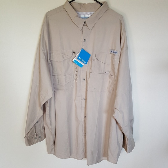 Columbia PFG Mens Vented Long Sleeve Fishing Shirt NWT